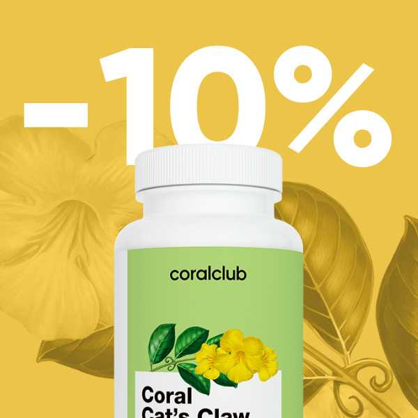 -10% на Coral Cat`s Claw 1-19 января